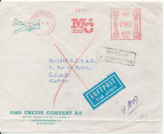 Denmark Cover With Meter Cancel Copenhagen 5-1-1961 Sent To Algeria And Returned (MC Margarine Compagniet) - Danimarca