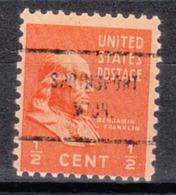 USA Precancel Vorausentwertung Preo, Locals Michigan, Springport 713 - Vereinigte Staaten