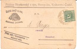 Czechoslovakia - Stationery - Wool - Ram - Sheep - Timbres