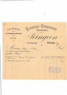 01-Peingeon Tannerie-Corroierie-Hongroierie  Bourg En Bresse (Ain) 1903 - Old Professions