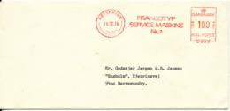 Denmark Cover With Meter Cancel Copenhagen 16-12-1976 (Francotyp Service Maskine No. 2) - Denmark