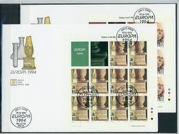 Malta KB Satz MiNr. 926-27 Ersttagsbriefe/ FDC Cept 1994 (GF13280 - Malta