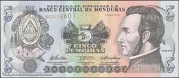 TWN - HONDURAS 91c - 5 Lempiras 6.5.2010 Prefix BC - Printer: FRANÇOIS-CHARLES OBERTHUR UNC - Honduras