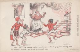 BUVARD PUBLICITÉ. LA PETITE MERE  ACHETEZ DU COKE DE GAZ POULPOT  / 6000 - Buvards, Protège-cahiers Illustrés
