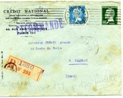 ROULETTES, Yv N° 170 & 177 / LR De 1924 Pour Cambrai  TB - Coil Stamps