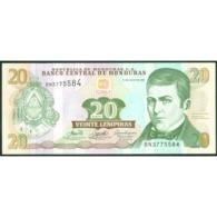 TWN - HONDURAS 93a - 20 Lempiras 13.7.2006 Prefix BN - Printer: DE LA RUE UNC - Honduras