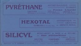 BUVARD PUBLICITÉ.  PYRETHANE, HEXOTAL, SILICYL  /6000 - Löschblätter, Heftumschläge