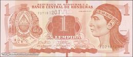 TWN - HONDURAS 96b - 1 Lempira 2.6.2014 (2016) Prefix FD - Printer: OBERTHUR FIDUCIARE UNC - Honduras