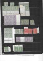 Petit Lot De TP Type Semeuse Lignée Neuf **/* Gomme Et Sans Gomme Des Défauts Au Verso Bien Dans L'ensemble - 1903-60 Semeuse Lignée