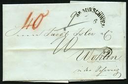 BRAUNSCHWEIG 1846, POSTVORSCHUSSBRIEF , So BRAUNSCHWEIG NACH WOHLEN - Brunswick