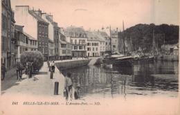 BELLE ILE En MER  - L 'arriere Port  , Animé (edts ND 141 ) - Belle Ile En Mer