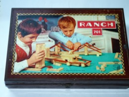 Boite De Jeu Ancien De Construction Bois Ranch N°701 Garnier Cornil Années 60 - Oud Speelgoed
