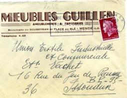ROULETTES, Yv N° 1536B / LSC De Mende De 1969 Pour Issoudun TB - Roulettes