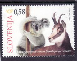 3333 A89 Slowenien Slovenia 2019 ** MNH Wild Animal Koala Chamois Gams Slovenes In Australia - Briefmarken