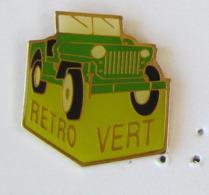 """1 Pin's ASSOCIATION AUTORETRO """"RETRO VERT"""" JEEP WILLYS - Associations"""
