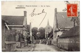 FOSSEUX ( Près D' Arras Doulens ) - 62 - Rue De L' Eglise - Groupe D'enfants Ecole ? - Autres Communes