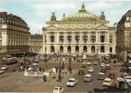 PARIS - La Place De L'opéra - Voiture : Citroen DS Taxi - 2 CV - Peugeot 403 - 404 - Simca - Renault R 10 - Dauphine - B - Squares