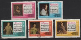 ART 133 - NICARAGUA Série De 5 Valeurs Cantates De L'opéra - Nicaragua