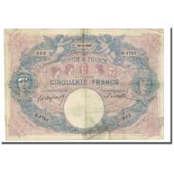France, 50 Francs, Bleu Et Rose, 1900-01-29, B+, Fayette:14.12, KM:64b - 50 F 1889-1927 ''Bleu Et Rose''