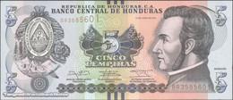 TWN - HONDURAS 98b - 5 Lempiras 2.6.2014 (2017) Prefix BR - Printer: OBERTHUR FIDUCIARE UNC - Honduras