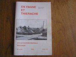 EN FAGNE ET THIERACHE N° 145 Régionalisme Tenderie Aux Grives Ardennes Françaises Revin Boutonville Eglise Gonrieux - Culture