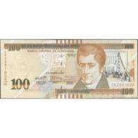 TWN - HONDURAS 102c - 100 Lempiras 28.12.2016 (2018) Prefix CK - Printer: CRANE AB UNC - Honduras