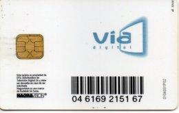 TV SATELITE CARD VIA DIGITAL , TELEVISION TELECARTE - Sonstige Formate