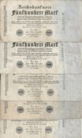 ALLEMAGNE 500 MARK 1922 VF P 74 ( 5 Billets ) - [ 3] 1918-1933 : Repubblica  Di Weimar