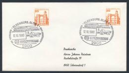 Deutschland Germany 1980 Brief Cover - Elektrisch Ins Oldenburgerland - DB Fahrzeugschau / Vehicle Show - Treinen