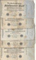 ALLEMAGNE 500 MARK 1922 VG+ P 74 ( 5 Billets ) - [ 3] 1918-1933: Weimarrepubliek