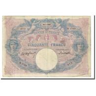 France, 50 Francs, Bleu Et Rose, 1900-01-26, TB, Fayette:14.12, KM:64b - 50 F 1889-1927 ''Bleu Et Rose''