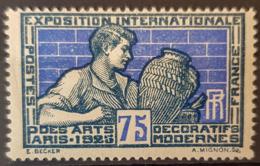 FRANCE 1924 - MNH - YT 214 - 75c - Exposition Internationale Des Arts Décoratifs - Unused Stamps