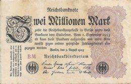 ALLEMAGNE 2 MILLION MARK 1923 VF+ P 104 - [ 3] 1918-1933 : Repubblica  Di Weimar