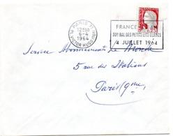 PARIS 71 / PL VICTOR HUGO (16e) 1964 = FLAMME SECAP ' France / Liban - 30éme Bal Des Petits Lits Blancs ' - Oblitérations Mécaniques (flammes)