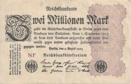 ALLEMAGNE 2 MILLION MARK 1923 VF+ P 104 - 1918-1933: Weimarer Republik