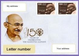 Kazakhstan 2019. A Letter To Your Address. 5  Cover. 150 Anniversary Of Mahatma Gandhi. - Kasachstan