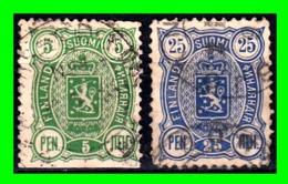 FINLANDIA 2 SELLOS USADOS AÑO 1889/92 ADMINISTRACION RUSA - 1856-1917 Administration Russe