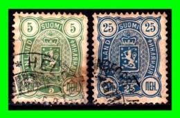 FINLANDIA 2 SELLOS USADOS AÑO 1889/92 ADMINISTRACION RUSA - 1856-1917 Amministrazione Russa