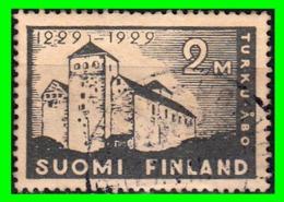 FINLANDIA  SELLO USADO AÑO 1929 TURKU CASTHE - Finland