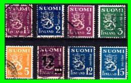 FINLANDIA 8 SELLOS USADOS AÑO 1930/46 - Finland