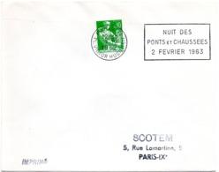 PARIS 71 / PL VICTOR HUGO (16e) 1963 = FLAMME SECAP ' NUIT PONTS Et Chaussées ' - Oblitérations Mécaniques (flammes)