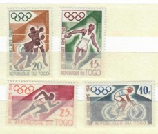 TOGO 1960 - OLIMPIADI INVERNALI - 4 VALORI - MNH** - Togo (1960-...)