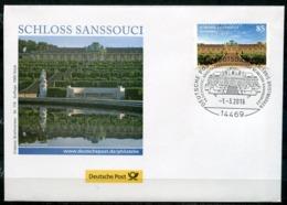 """Germany 2016 First Day Cover Mi.Nr.3216 Bogen Ersttagsbrief""""Burgen Und Schlösser,Schloss Sanssouci""""1 FDC - Schlösser U. Burgen"""
