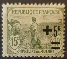 FRANCE 1922 - MLH - YT 164 - Orphélins De La Guerre - France