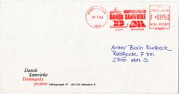 Denmark Cover With Meter Cancel Copenhagen 31-1-1994 (Danmarksposten Dansk Samvirke) - Danimarca