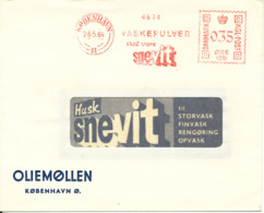 Denmark Cover With Meter Cancel Copenhagen 26-5-1964 Vaskepulver Skal Være SNEVIT 35 Ore - Danimarca