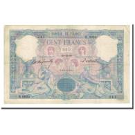 France, 100 Francs, Bleu Et Rose, 1899-12-29, TTB+, Fayette:21.12, KM:65b - 1871-1952 Anciens Francs Circulés Au XXème