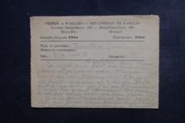 BELGIQUE - Correspondance D' Un Prisonnier Du 24/ 6 / 1945 De La Prison De St Gilles à Bruxelles - L 46275 - Documenti