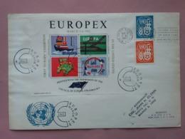 STATI UNITI - Europa CEPT - 1° Esposizione Negli U.S.A. - Con Foglietto Ricordo Ufficiale + Spese Postali - United States