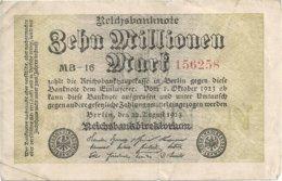 ALLEMAGNE 10 MLLIONEN MARK 1923 VF P 106 - [ 3] 1918-1933: Weimarrepubliek